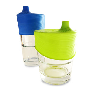 SiliKids Universal Sippy Tops- Blue and Lime