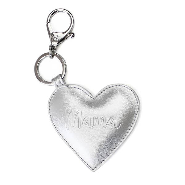 Itzy Ritzy Diaper Bag Charm- Silver Mama Heart