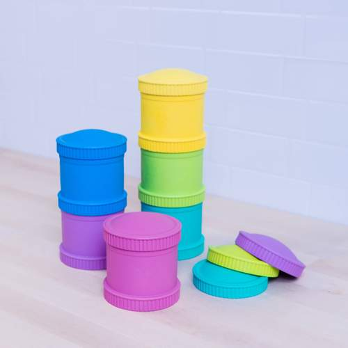 Re-Play Snack Stack with Travel Lid - Multiple Color Options