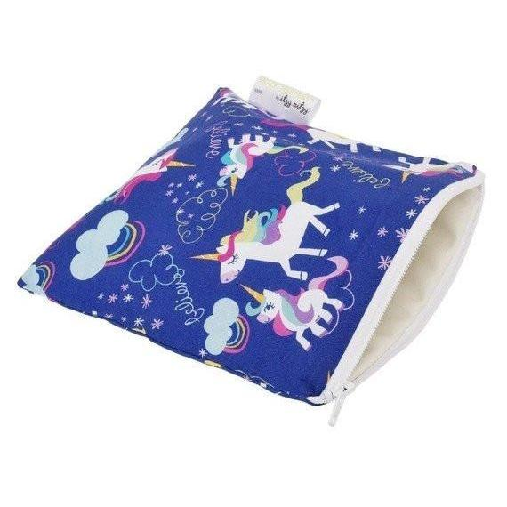 Itzy Ritzy Snack Happens Reusable Snack and Everything Bag- Unicorn Dreams