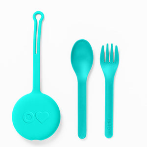 OmieBox Kids Utensils Set with Case - Multiple Colors Available