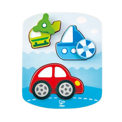 Hape- Dynamic Vehicle Puzzle