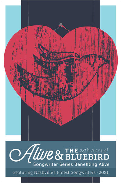 Alive & The Bluebird 28th Anniversary Poster