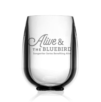 Alive & The Bluebird Unbreakable Wine Glass