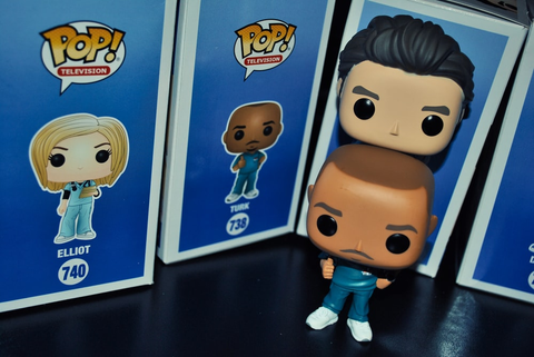Popular Funko Pop figures taken out of their boxes