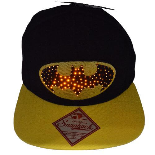 BATMAN FIBER OPTIC LED SNAPBACK HAT