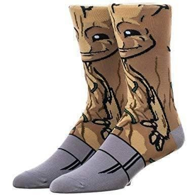 BABY GROOT 360 Character Men's Crew GUARDIANS OF THE GALAXY Socks