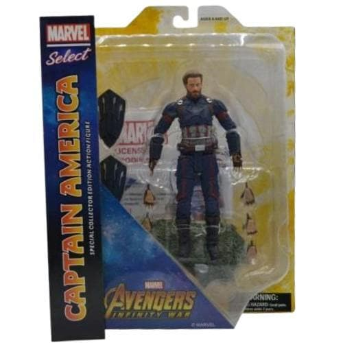 CAPTAIN AMERICA MARVEL SELECT ACTION FIGURE 7-INCH