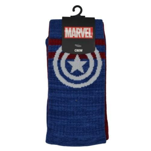 CAPTAIN AMERICA REVERSE STRIPES SOCKS - Marvel Socks
