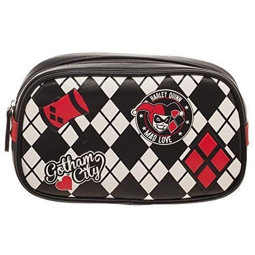 DC Comics Harley Quinn Cosmetic Makeup Bag Tote GEEK FASHION