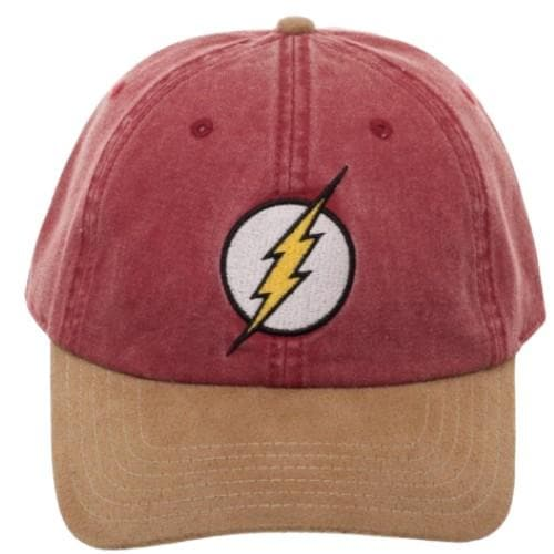 FLASH SUEDE DAD HAT - DC Comics Apparel