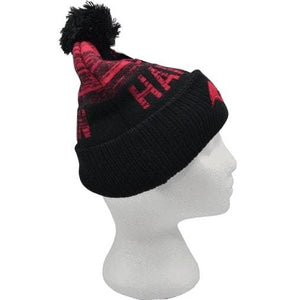 HARLEY QUINN BLACK/RED BEANIE