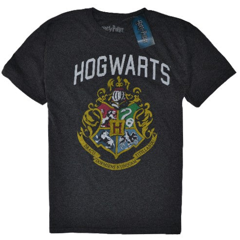 OFFICIAL HARRY POTTER VINTAGE HOGWARTS CREST T-SHIRT