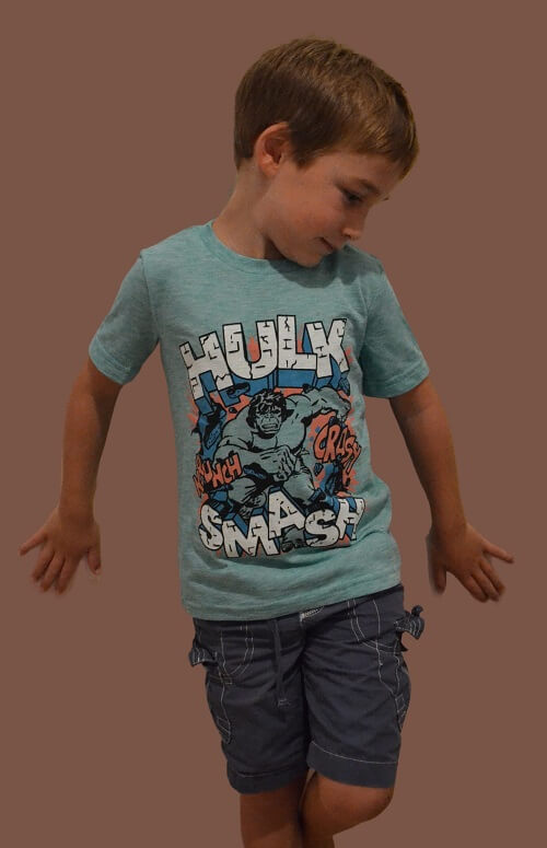 OFFICIAL HULK KID'S T-SHIRT (BOYS 4-12)