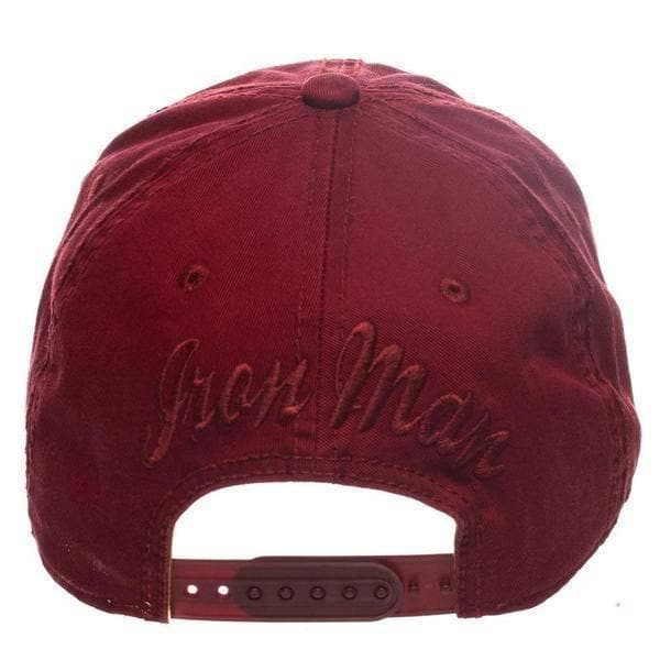 MARVEL IRONMAN WASHED RED SNAPBACK HAT