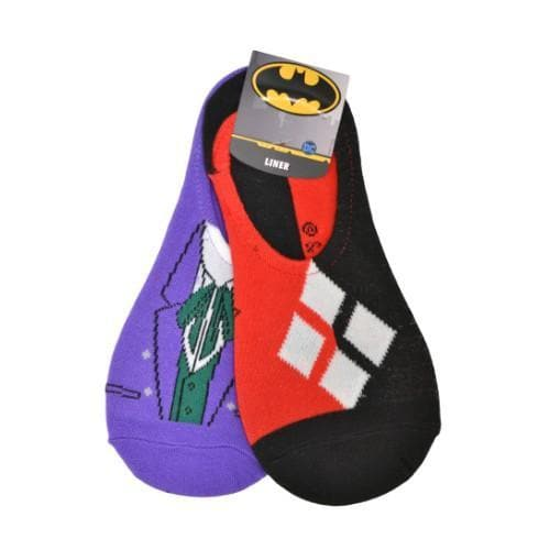 JOKER & HARLEY QUINN LINERS SOCKS (WOMEN'S & KIDS)