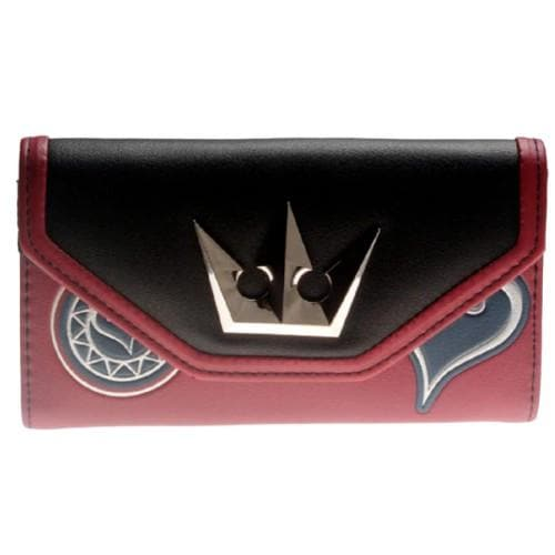 KINGDOM HEART TRIFOLD HAND PURSE