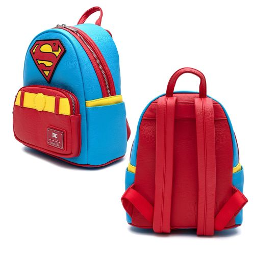 LOUNGEFLY DC SUPERMAN COSPLAY BACKPACK