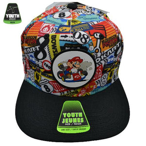 MARIO KART SUBLIMATED YOUTH SNAPBACK CAP