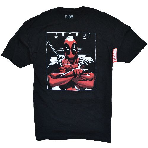 MARVEL UNIVERSE DEADPOOL CROSSED HANDS T-SHIRT