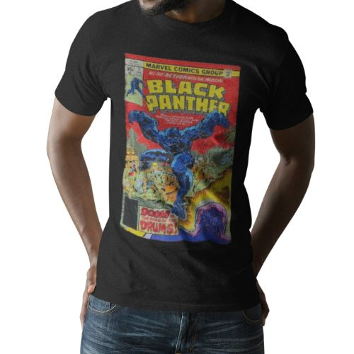 OFFICIAL BLACK PANTHER COMIC BOOK T-SHIRT