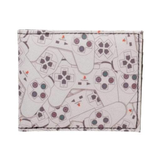PLAYSTATION CONTROLLER PATTERN BIFOLD WALLET