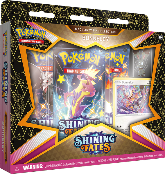 POKEMON - SHINING FATES - MAD PARTY PIN COLLECTION - BUNNELBY
