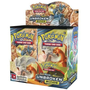 POKEMON SUN AND MOON UNBROKEN BONDS BOOSTER BOX