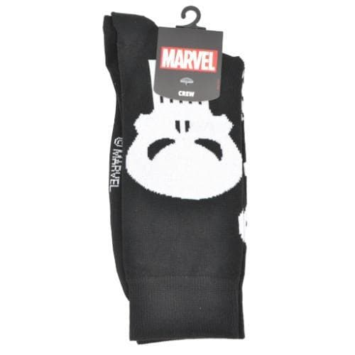 PUNISHER BLACK AND WHITE SOCKS - Marvel Merchandise