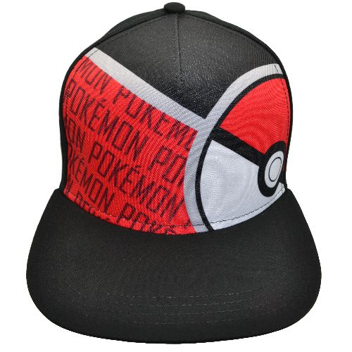 POKEMON POKEBALL YOUTH SNAPBACK HAT BLACK/RED