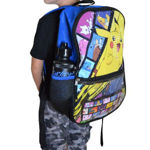 PIKACHU BACKPACK 5 PIECES (UTILITY CASE, PENCIL CASE, ICE PAK, WATER BOTTLE)