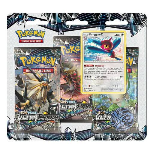 Pokemon TCG: 3 Pack Blister Ultra Prism: Porygon-Z