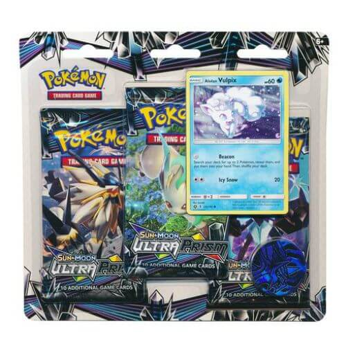 Pokemon TCG: 3 Pack Blister Ultra Prism: Vulpix