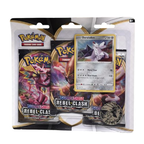 Pokemon TCG: 3 Pack Blister Sword & Shield: Rebel Clash