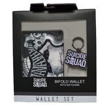 OFFICIAL SUICIDE SQUAD WALLET & KEYCHAIN GIFT SET