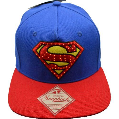 SUPERMAN FIBER OPTIC LED SNAPBACK HAT