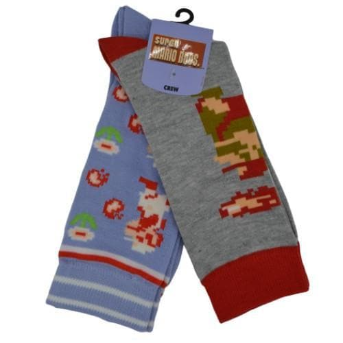 SUPER MARIO BROS 2 PAIRS CASUAL SOCKS