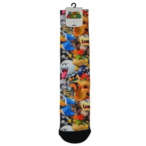 SUPER MARIO BROS VILLAINS SUBLIMATED SOCKS