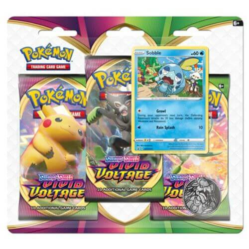 Sobble 3 Packs Checklane Blister - Vivid Voltage