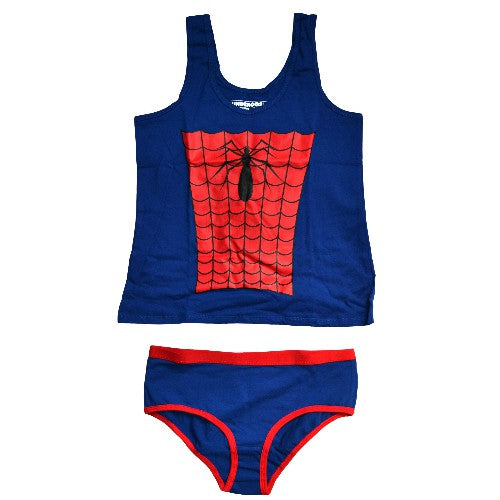 SPIDERMAN WOMAN TANK AND BRIEF