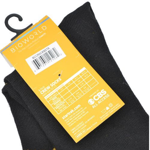 STAR TREK BLACK/YELLOW CREW SOCKS
