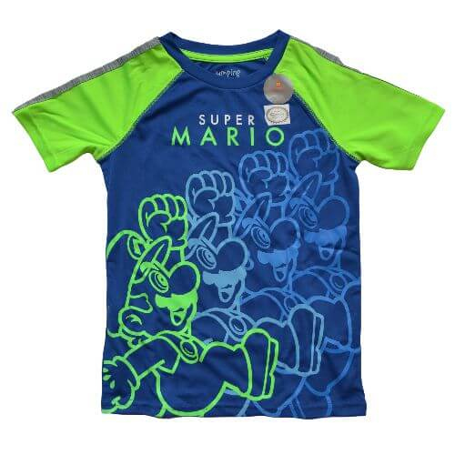 OFFICIAL SUPER MARIO ACTIVE T-SHIRT (BOYS 4-7)