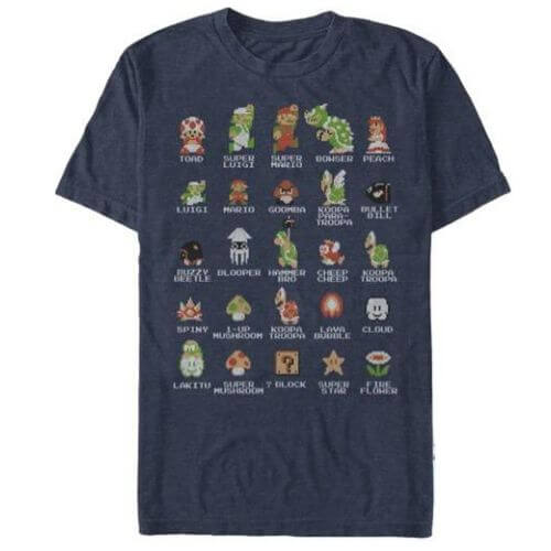 Official Super Mario Bros Characters T-Shirt