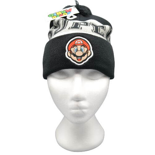 Super Mario Bros Black Beanie