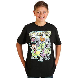 OFFICIAL TEEN TITANS GO! IT'S GO TIME T-SHIRT (BOYS S-XL)