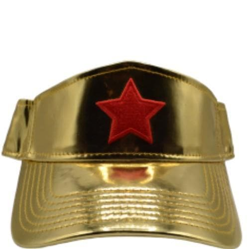 WONDER WOMAN COSPLAY GOLD VISOR - DC Comics Snapback