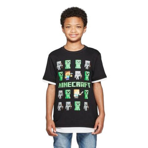 OFFICIAL MINECRAFT T-SHIRT (BOYS S-XL)