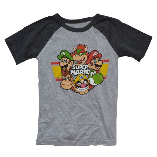 OFFICIAL SUPER MARIO T-SHIRT (BOYS 4-7)