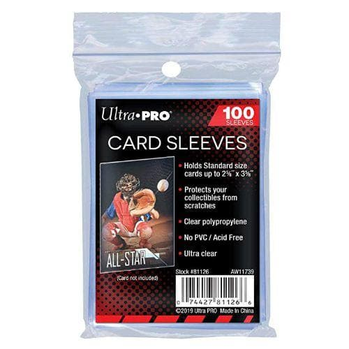 CARD SLEEVES (100) ULTRA-PRO SOFT SLEEVES