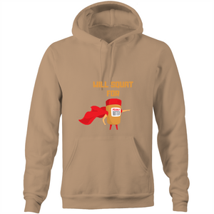 Will squat for Peanut butter hoodie